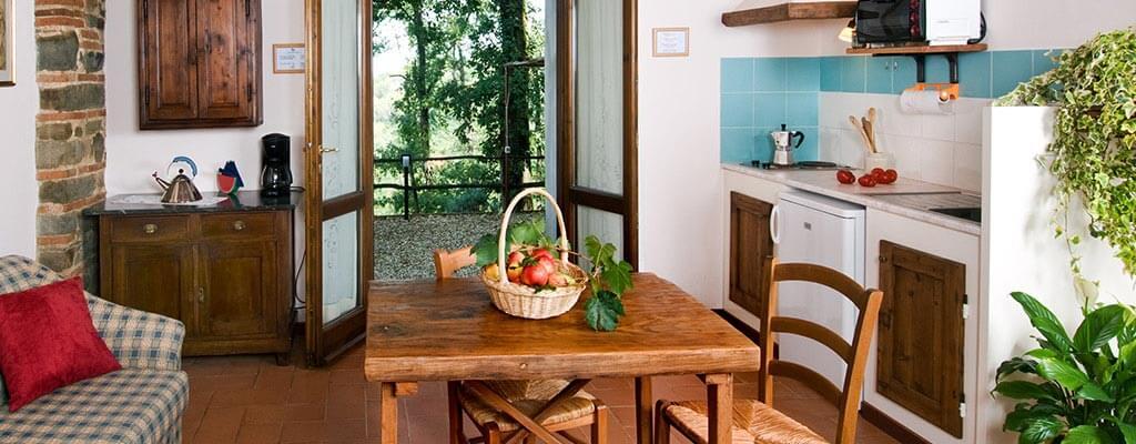 La cucina di un appartamento vacanze a Firenze